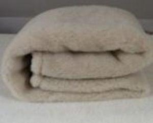 Deka 100% OVČIA VLNA (ovčie rúno) CAMEL 140x200 cm