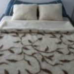 Prikrývka 100% OVČIA VLNA (ovčie rúno) vzor Brečtan 140 x 200 cm