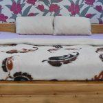 Prikrývka 100% OVČIA VLNA (ovčie rúno) vzor Pierka 140 x 200 cm